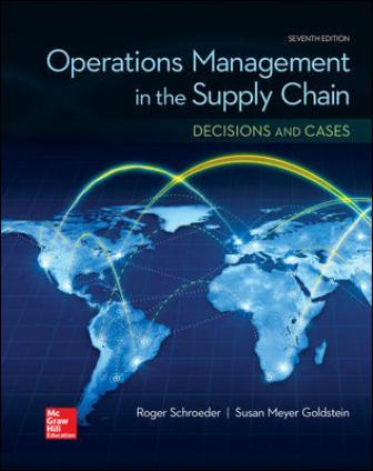 Test Bank for Operations Management in the Supply Chain: Decisions and Cases