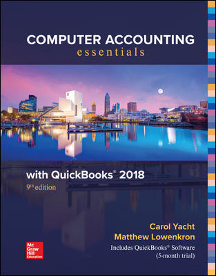 Test Bank for Computer Accounting Essentials Using QuickBooks 2018