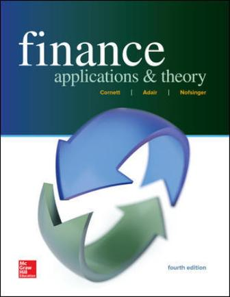Test Bank for Finance: Applications and Theory 4th Edition Cornett