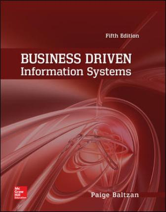 Solution Manual for Business Driven Information Systems 5th Edition Baltzan