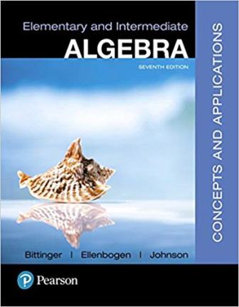 Solution Manual for Elementary and Intermediate Algebra Concepts and Applications