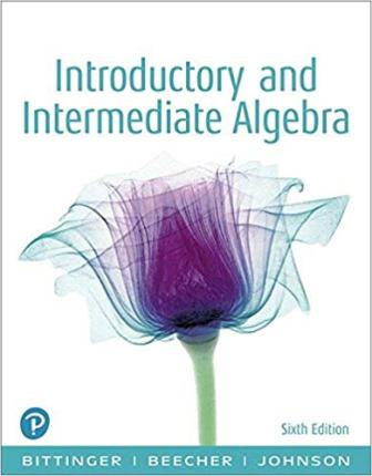 Test Bank for Introductory and Intermediate Algebra