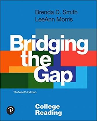 Test Bank for Bridging the Gap College Reading