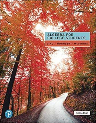 Solution Manual for Algebra for College Students