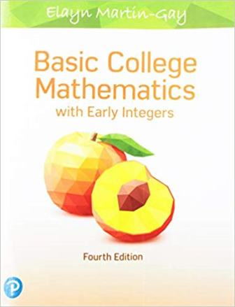 Solution Manual for Basic College Mathematics with Early Integers