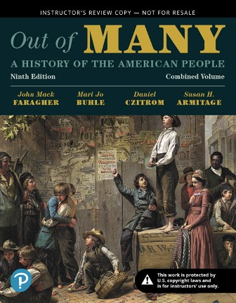 Test Bank for Out of Many A History of the American People, Volume 1 9th Edition Faragher