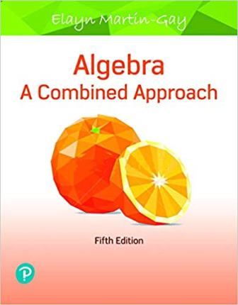 Solution Manual for Algebra A Combined Approach