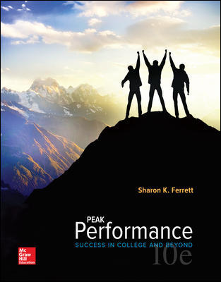 Test Bank for Peak Performance: Success in College and Beyond