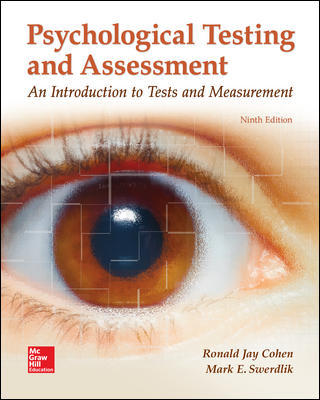 Test Bank for Psychological Testing and Assessment