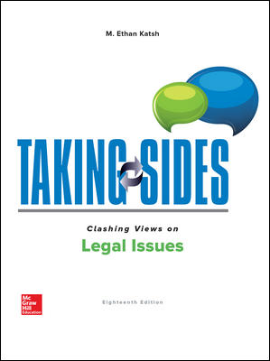 Test Bank for Taking Sides: Clashing Views on Legal Issues