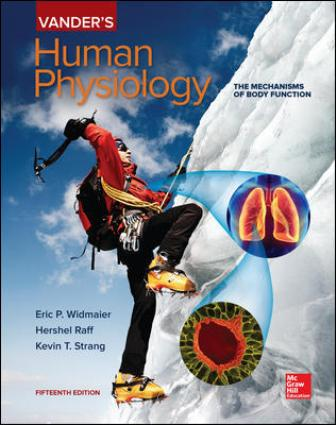 Test Bank for Vander's Human Physiology, 15th Edition, Eric Widmaier, Hershel Raff, Kevin Strang, ISBN10: 1259903885, ISBN13: 9781259903885