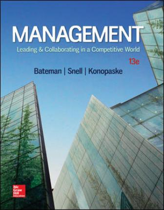 Solution Manual for Management: Leading and Collaborating in a Competitive World
