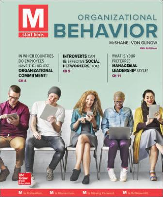 Test Bank for M: Organizational Behavior 4th Edition McShane