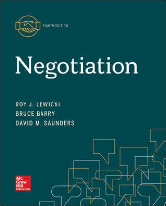 Test Bank for Negotiation 8th Edition Lewicki