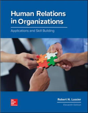 Solution Manual for Human Relations in Organizations: Applications and Skill Building