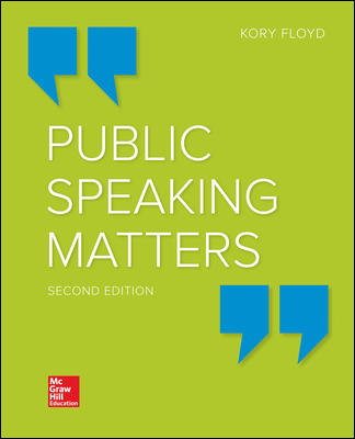 Test Bank for Public Speaking Matters