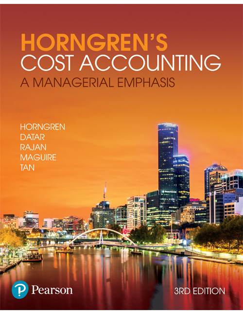 Test Bank for Horngren's Cost Accounting: A Managerial Emphasis 3e By Horngren