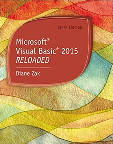Solution Manual for Microsoft Visual Basic 2015 6th Edition By Diane Zak ISBN: 9781285860190