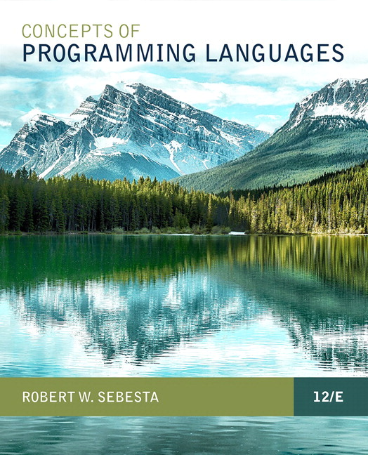 Solution Manual for Pearson eText for Concepts of Programming Languages 12th Edition