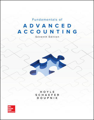Solution Manual for Fundamentals of Advanced Accounting 7th Edition By Joe Ben Hoyle