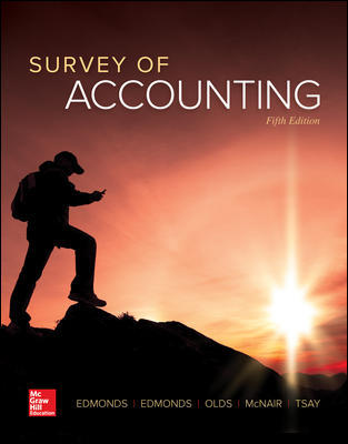 Solution Manual for Survey of Accounting 5th Edition By Thomas Edmonds
