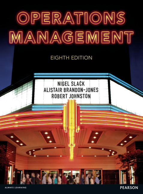 Solution Manual for Operations Management 8th Edition By Nigel Slack