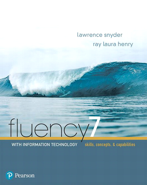 Test Bank for Fluency With Information Technology [RENTAL EDITION]