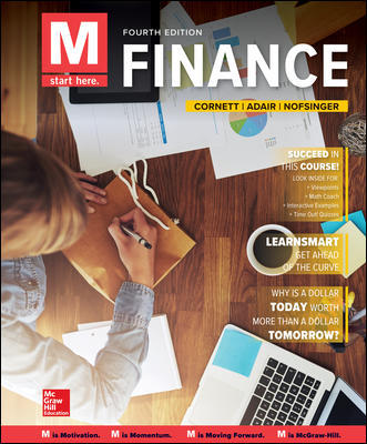 Test Bank for M: Finance 4th Edition By Marcia Cornett