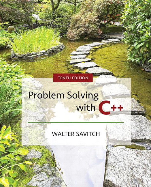Test Bank for Problem Solving with C++ Plus MyLab Programming with Pearson eText 10th Edition By Walter Savitch