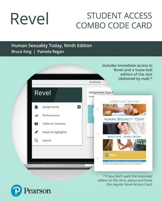 Test Bank for Revel for Human Sexuality Today 9th Edition By Bruce M. King