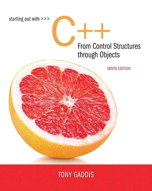 Test Bank for Starting Out with C++ from Control Structures to Objects 9th Edition By Tony Gaddis