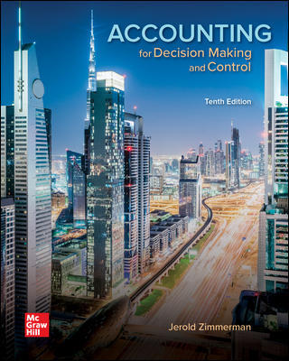 Test Bank for Accounting for Decision Making and Control 10th Edition By Jerold Zimmerman