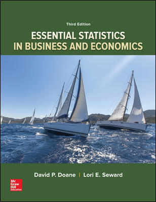 Test Bank for Essential Statistics in Business and Economics 3rd Edition By David Doane
