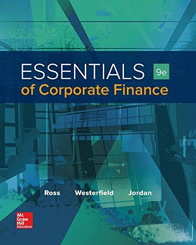Test Bank for Essentials of Corporate Finance 9th Edition Stephen Ross
