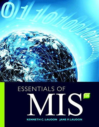 Test Bank for Essentials of MIS 12th Edition Laudon