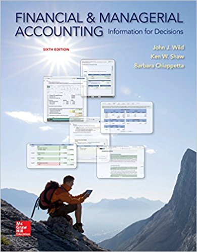 Test Bank for Financial and Managerial Accounting 6th Edition John Wild