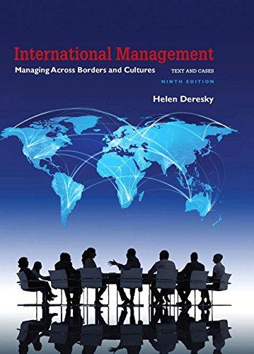 Test Bank for International Management Managing Across Borders and Cultures 9th Edition Helen Deresky