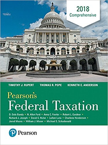 Test Bank for Pearson's Federal Taxation 2018 Comprehensive 31st Edition Thomas R. Pope