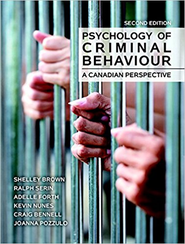 Test Bank for Psychology of Criminal Behaviour A Canadian Perspective 2nd Edition S Brown