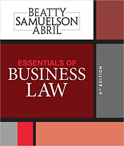 Test Bank for Essentials of Business Law 6th Edition Jeffrey F. Beatty
