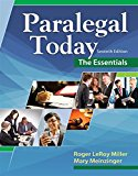 Test Bank for Paralegal Today: The Essentials 7th Edition Roger Miller