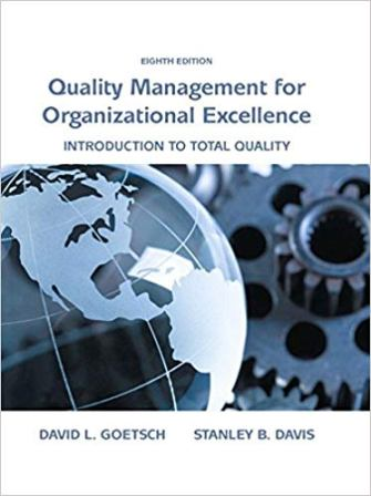 Test Bank for Quality Management for Organizational Excellence