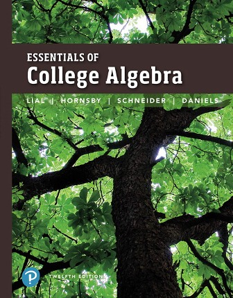 Solution Manual for Essentials of College Algebra 12th Edition Lial