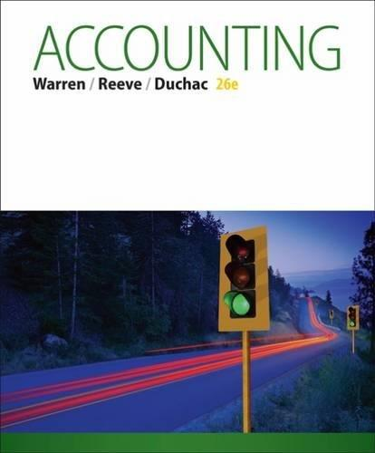 Test Bank for Accounting 26th Edition By Carl S. Warren