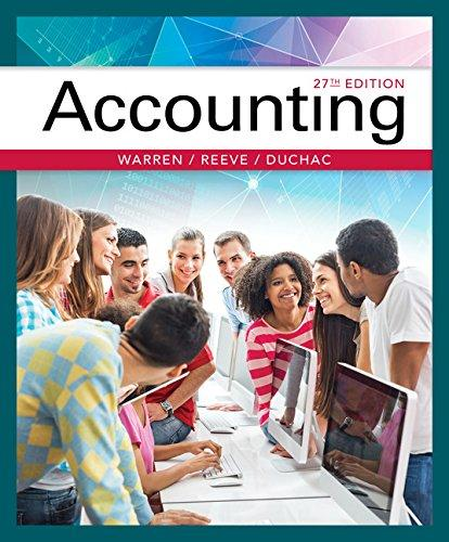 Test Bank for Accounting 27th Edition By Carl S. Warren