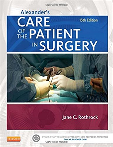 Test Bank forAlexander's Care of the Patient in Surgery 15th Edition Rothrock