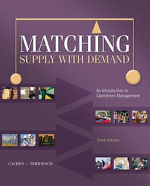 Solution Manual forMatching Supply with Demand 3rd Edition Cachon