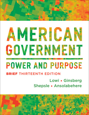 Test Bank forAmerican Government Power and Purpose Brief 13th Edition Lowi