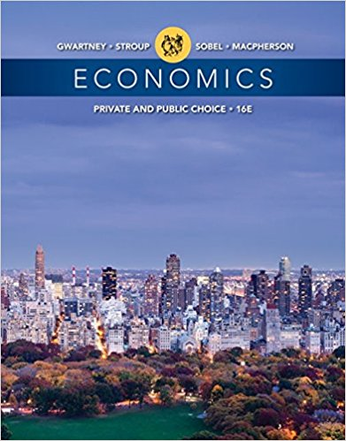 Test Bank for Economics Private and Public Choice 16th Edition Gwartney