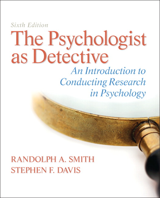 Test Bank for The Psychologist as Detective AICRP 6e Smith